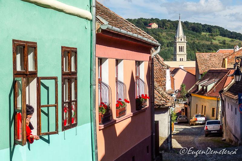 Cladiri colorate in Sighisoara