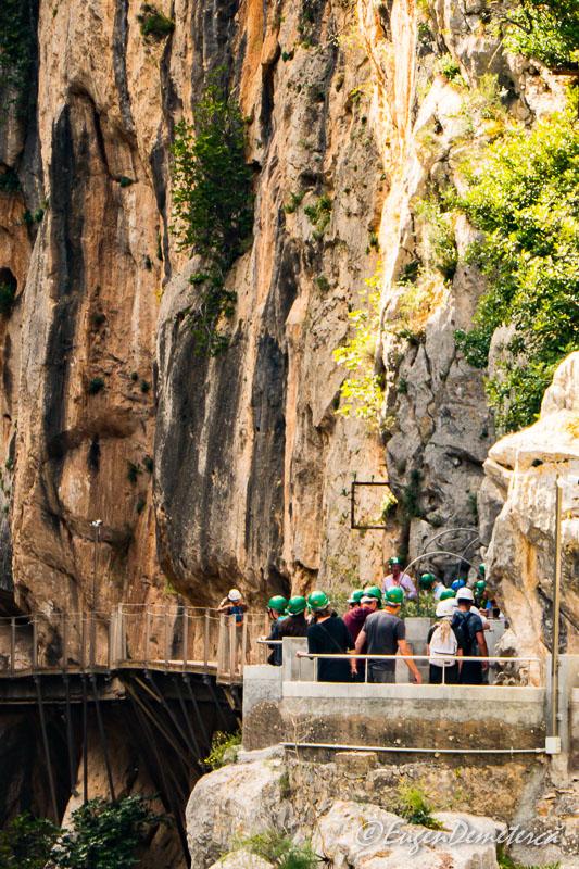 Caminito del rey - casca verde