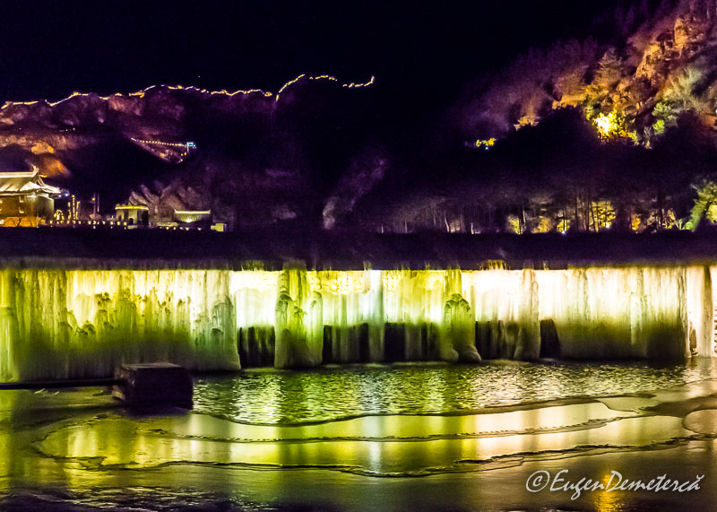 Cascada Gubei noaptea