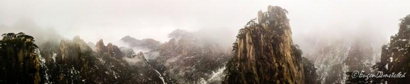 Huangshan panorma pe ceata