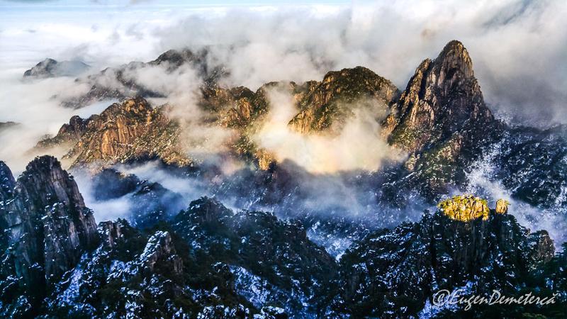 Soare pe muntele Huangshan