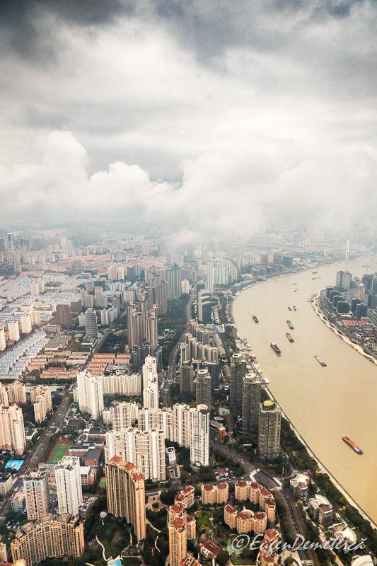 Shanghai de sus - nori deasupra raului Huangpu 2