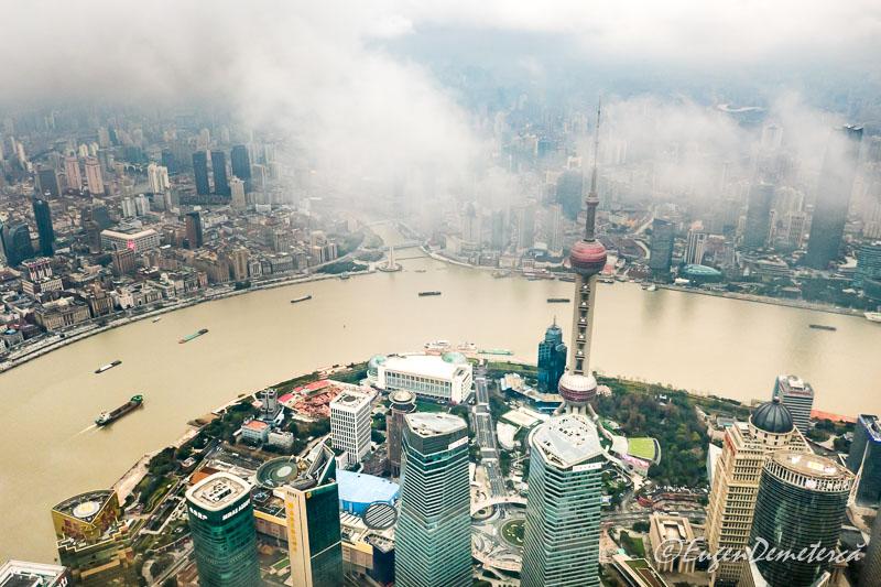 Shanghai vazut de sus