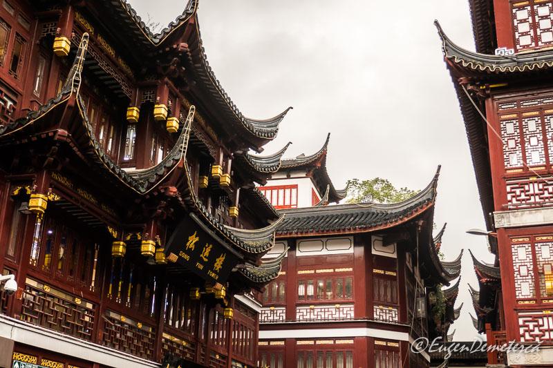 Sahnghai - acoperisuri Yuyuan bazar