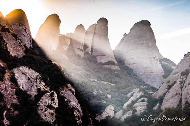 Montserrat - stanci cu raze