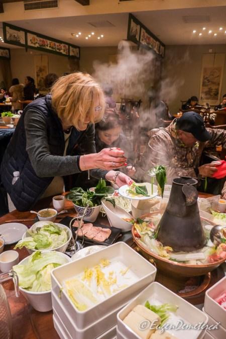 "Mancare la ""hot pot"" in Gubei"