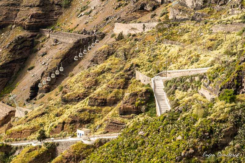 Drumul spre portul din Fira