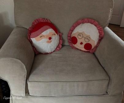 Mr and Mrs Santa decorations
