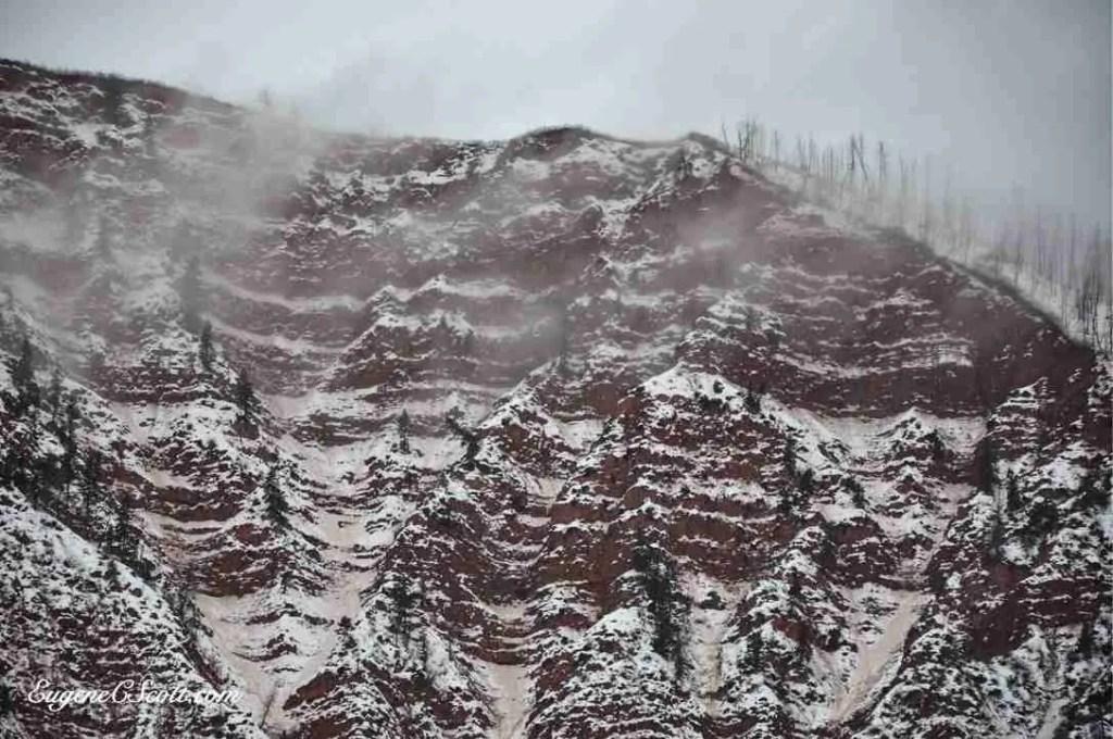 Rugged mountain peak