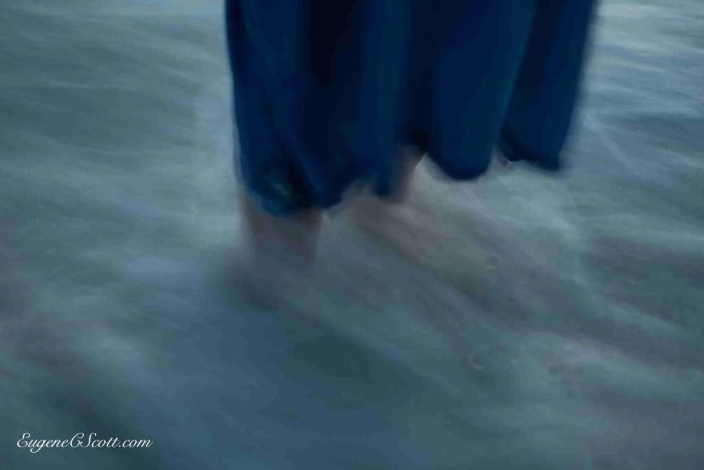 Tide rushing in on feet