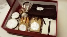 Los productos dentro de la caja