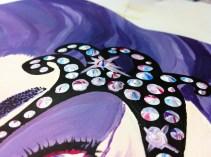 used paint to create multi-coloured swirls