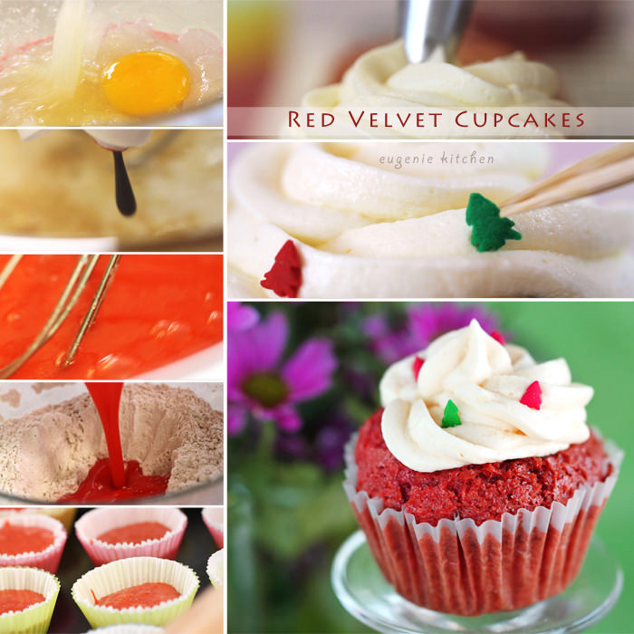 Red Velvet Cupcakes with Vanilla Buttercream Frosting Recipe