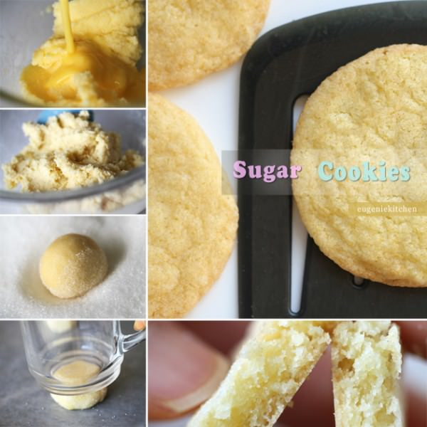 Sugar Cookies with vailla and almond flavors