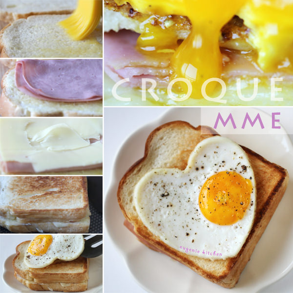 Croque Madame Recipe - French Ham Cheese Egg Sandwich