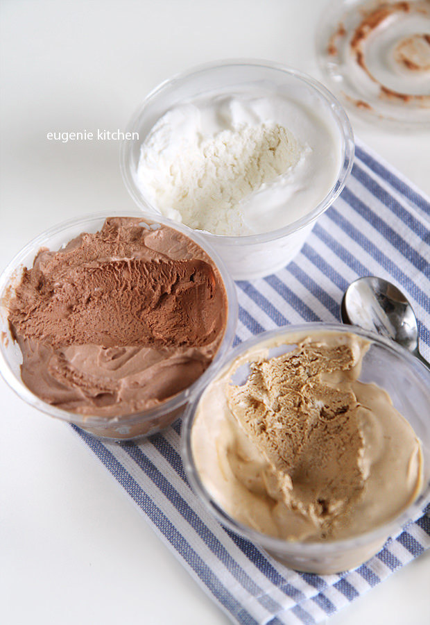 3-Ingredient No-churn Ice Cream - Chocolate, Coffee, Vanilla