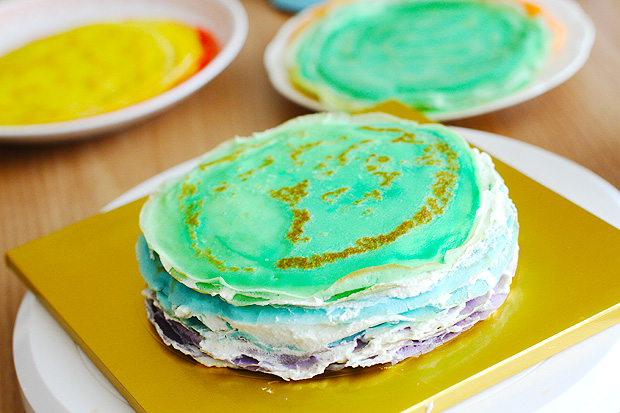 30-Layer Rainbow Mille Crepe Cake - Eugenie Kitchen