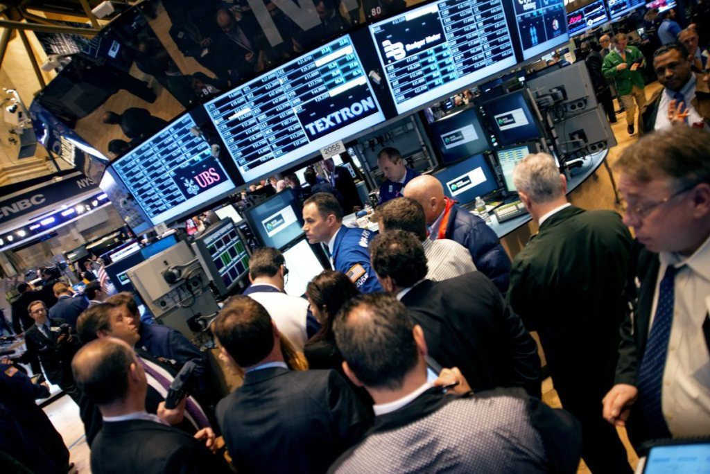 NYSE New York Stock Exchange traders Keywords: Wall Street, Dow Jones