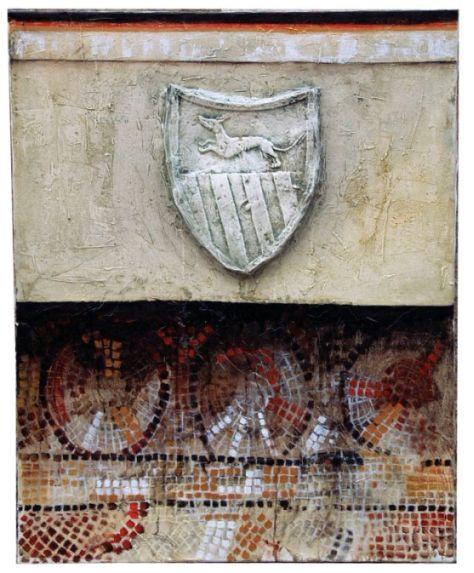 Parens, 100x70 cm, combined technique, 2001.