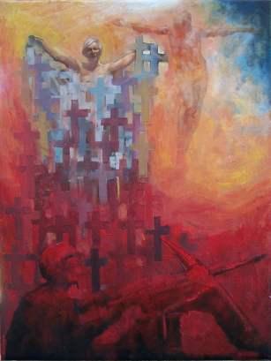 """""""Weltsmertz - Christian"""" 40x30 cm, oil on canvas, 2011."""