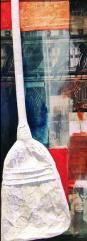 David White, 110x40 cm, combined technique, 1999.