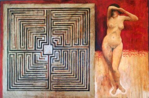 Eva, 100x150 cm, oil on canvas, 2008