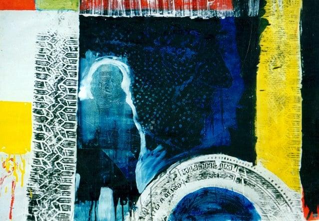 """Vladimir"" 70x50 cm, mixed on paper"