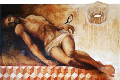 Thruth, 100x150 cm, oil on canvas, 2008