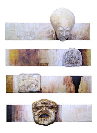 M.T.E.M. 120x100 cm, combined technique, 2007