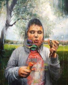 Joy, 110x90 cm, acrylic on canvas