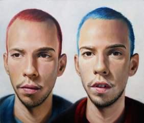 Twins, 120x140 cm, oil on canvas