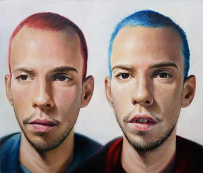 Twins, 120x140 cm, oil on canvas