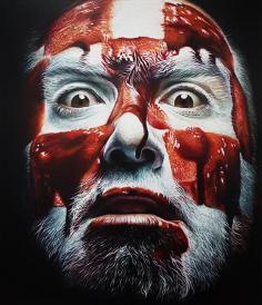 """Asshole"" oil on canvas, 140x120 cm, 2019."