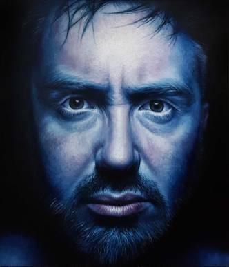 """War in my head"" oil on canvas, 140x120 cm, 2019."