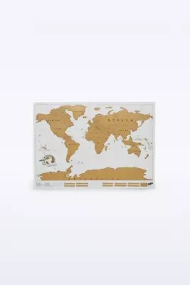 Scratch Map World Map Poster   Urban Outfitters Slide View  2  Scratch Map World Map Poster