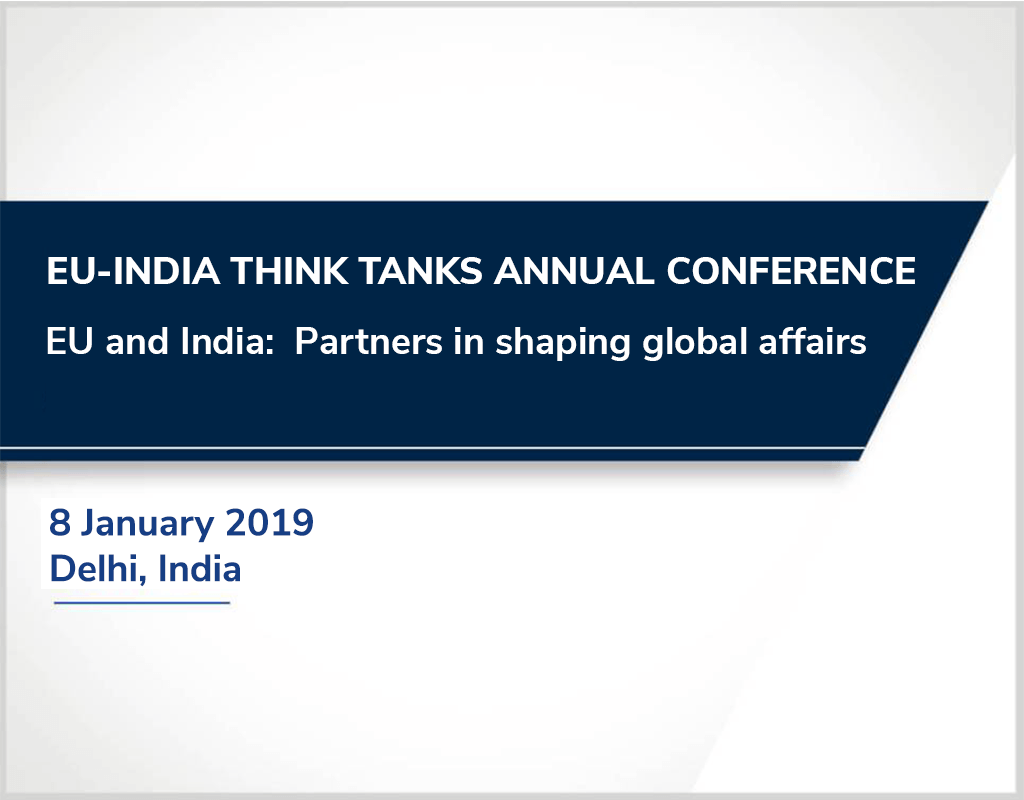 EU-INDIA-Think tanks annual conference