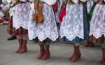Polish folk dance group with traditional costume