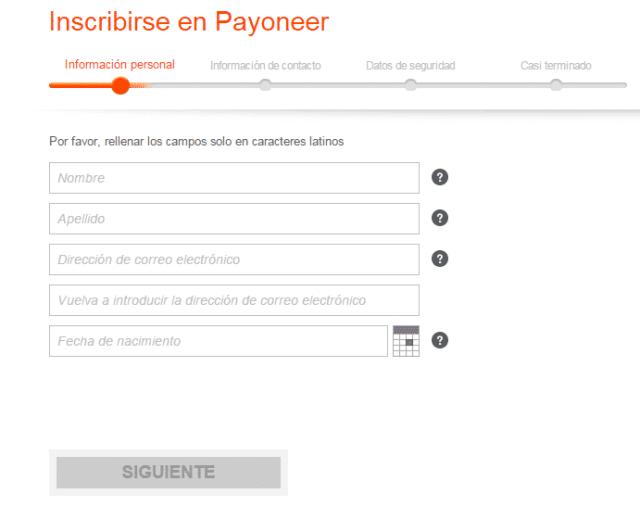 datos personales payoneer Payoneer, Tarjeta Internacional Gratis con Cuenta en Estados Unidos datos personales payoneer