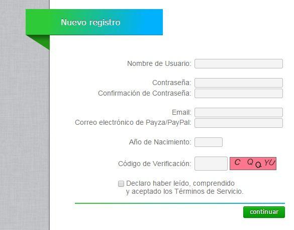formulario registro neobux neobux Neobux, Sistema para ganar dinero sin inversion viendo publicidad formulario registro neobux 1