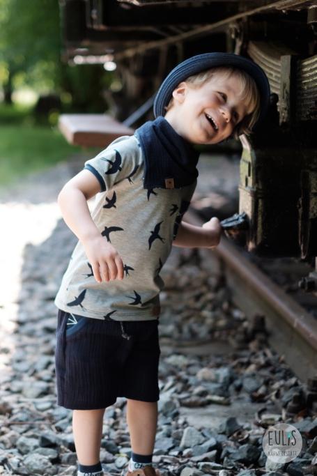 Buntspecht Stoffe Schwalben Musselin Kid 5 11