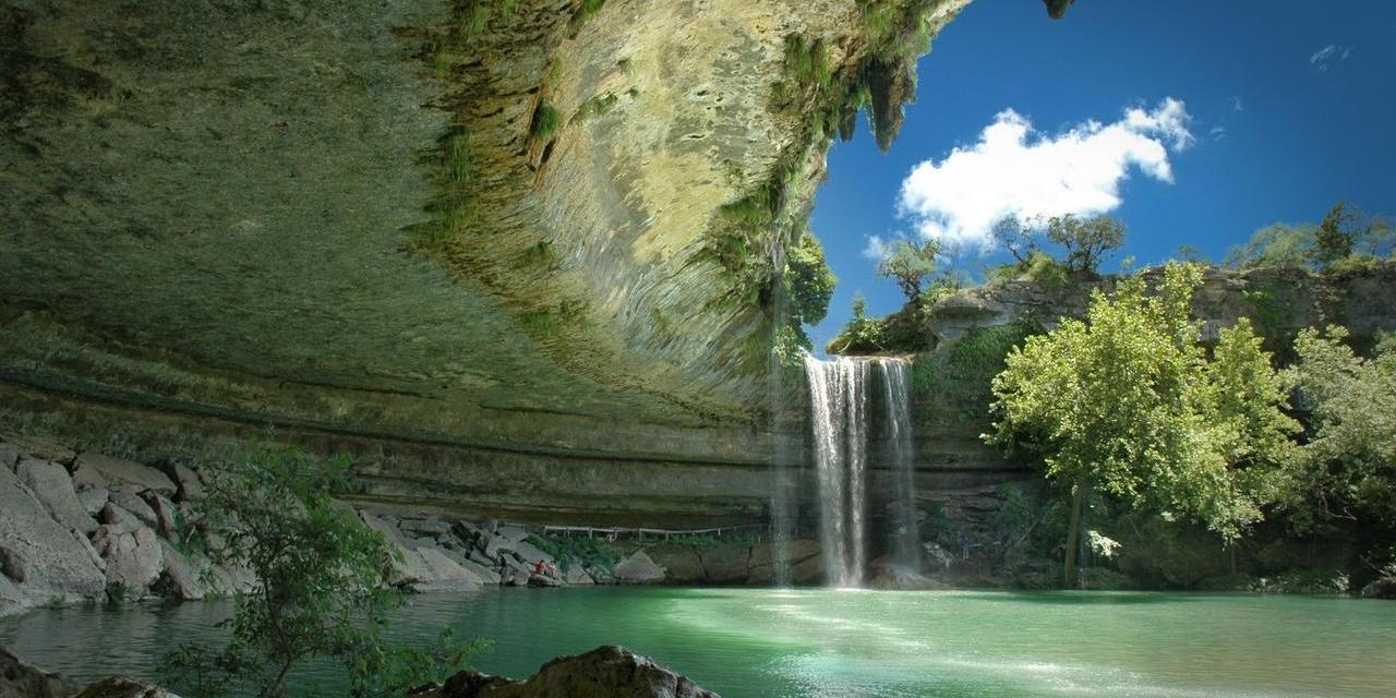 La piscina natural de Hamilton en Texas