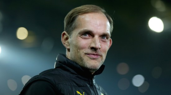 DORTMUND, GERMANY - OCTOBER 26: Thomas Tuchel, head coahc of Dortmund and of Berlin battle for the ball during DFB Cup second round match between Borussia Dortmund and 1. FC Union Berlin at Signal Iduna Park on October 26, 2016 in Dortmund, Germany. (Photo by Maja Hitij/Bongarts/Getty Images)