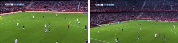 La presión del Madrid de Benítez ante en Sevilla de Emery.