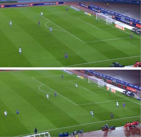 La presión adelantada a la que sometió la Real Sociedad al Barça.