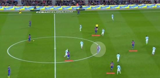 El 3-4-3 mejoró la salida desde atrás del Barça, y le dio a Leo Messi un mejor escenario para recibir el balón.