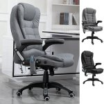 Vinsetto Massage Office Chair 130 Reclining Chair Relax Head Office Chairs Aosom Uk