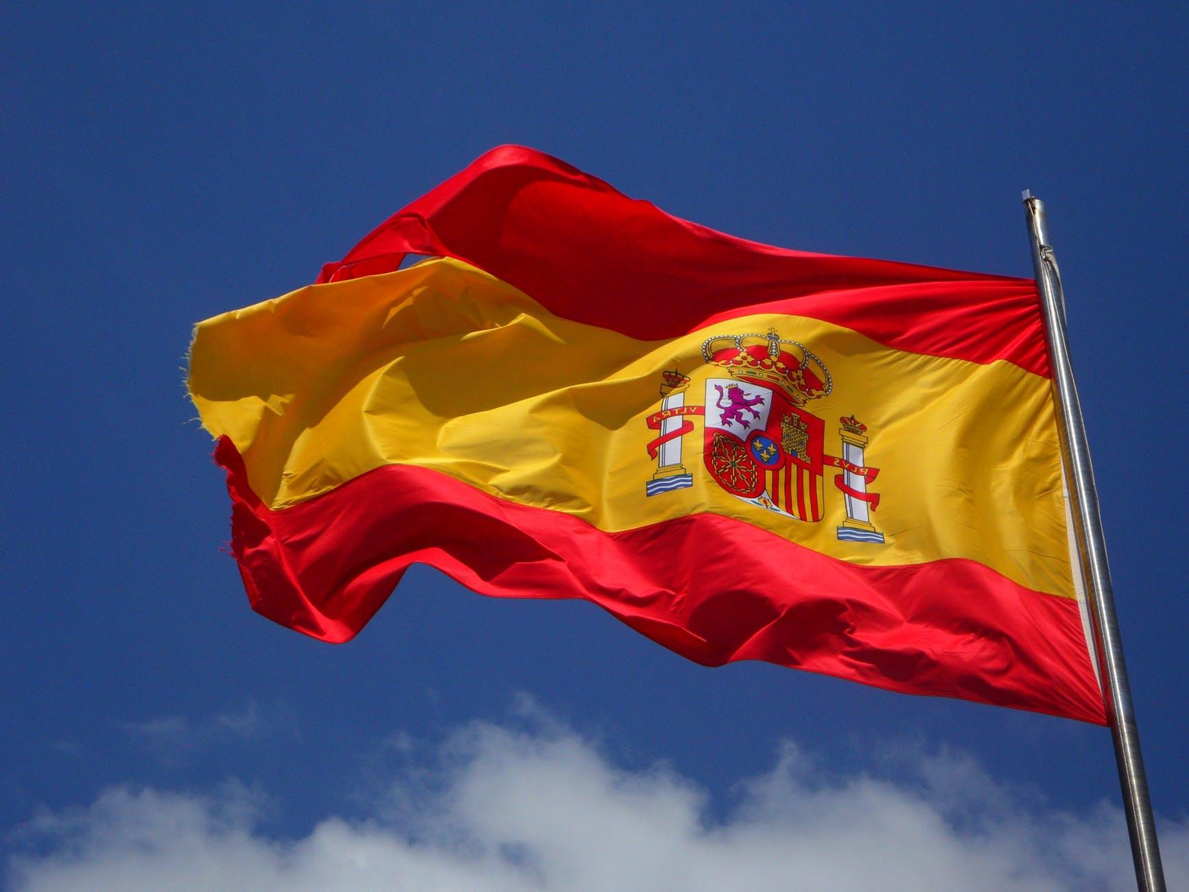 sky blue windy flag