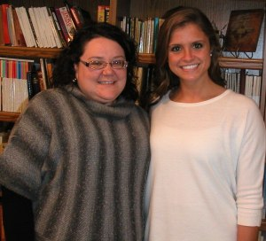 "Brianna Schwenk and Lyndsey Reis, pianist and vocalist for the Catherine McAuley Center's webpage song, ""Feels Like Home"" originally by Randy Newman"