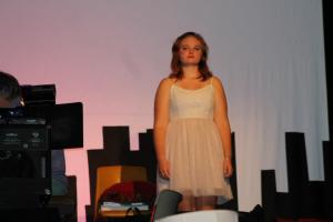 "Hannah Ganzel as Caressa, who knocks the song ""Come to Your Senses"" out of the park."