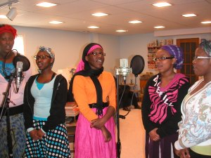 The women's section of the Amen Choir.